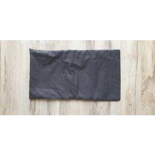 Kissenbezug 25x45 cm mit Füllung Weiße Punkte auf Schwarz
