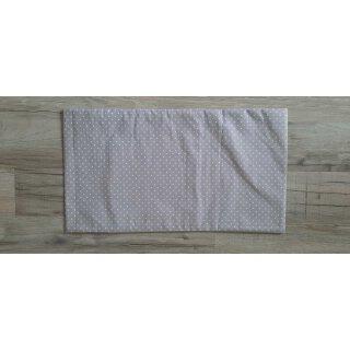 Kissenbezug 25x45 cm ohne Füllung Weiße Punkte auf Grau