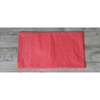 Kissenbezug 25x45 cm ohne Füllung Weiße Punkte auf Rot