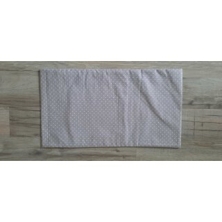 Kissenbezug 25x45 cm mit Füllung Weiße Punkte auf Grau