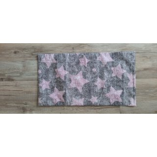 Kissenbezug 25x45 cm ohne Füllung Rosa Sterne auf Grau