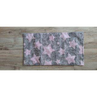 Kissenbezug 25x45 cm mit Füllung Rosa Sterne auf Grau
