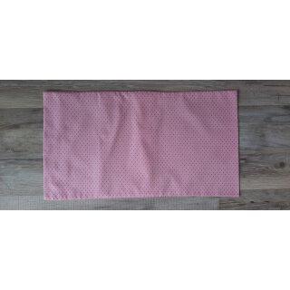Kissenbezug 25x45 cm ohne Füllung Rote Punkte auf Rosa