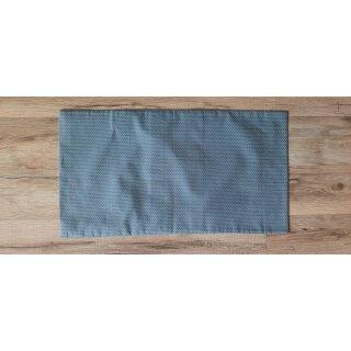 Kissenbezug 25x45 cm ohne Füllung Weiße Punkte auf Blaugrau